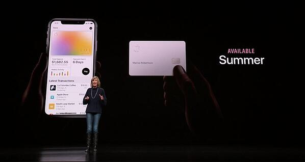 Apple's March event announcing the Apple Card
