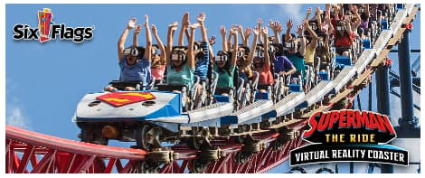 Six Flags adopts virtual reality to their roller coasters to enhance the immersive experience.