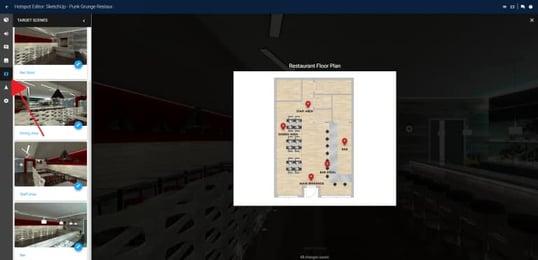 Floorplan in Yulio Hotspot editor