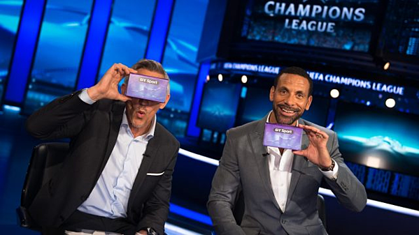 The Champions League Final VR experience was free. Pho