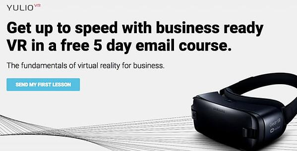 yulio vr course sign up page
