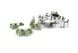 Rendering of an office space