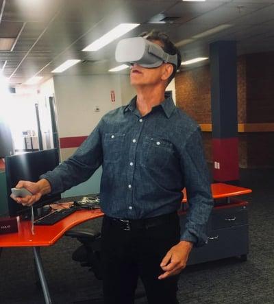 Jim Stelter in Oculus Go