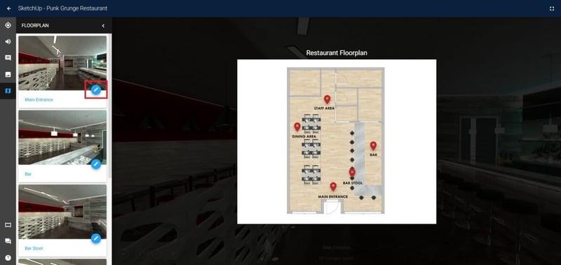 Yulio Floorplan Navigation feature