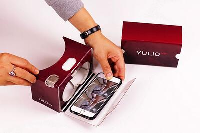 Yulio branded cardboard headset