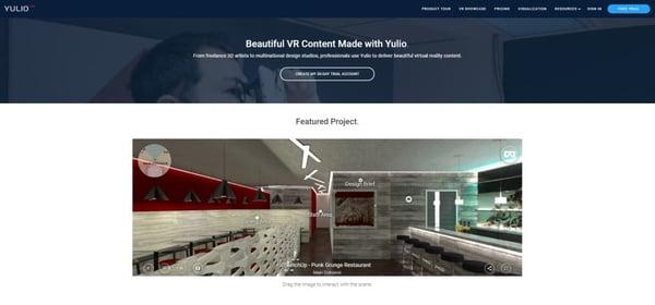 Yulio VR Showcase page