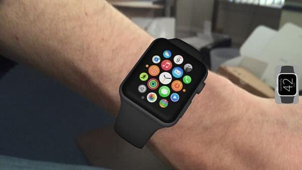 apple-AR-try-on: virtual apple watch