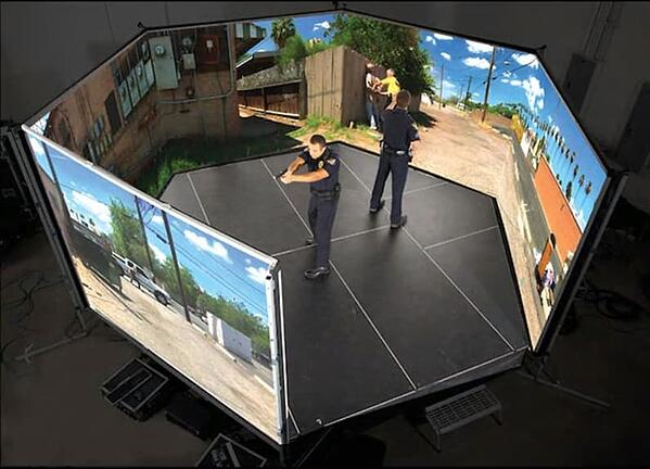 Officers use virtual environment to train in a simulated experience