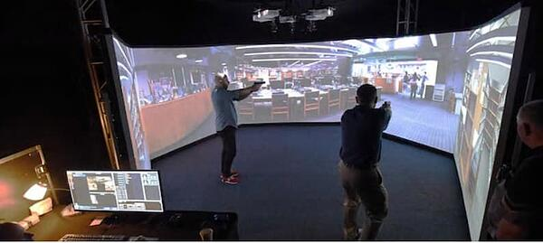 Detectives fire in near-real experiences using virtual reality and simulation