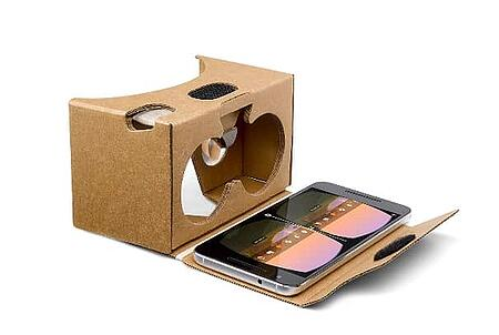 No VR headset comparison is complete without the Google cardboard - essentially a fold up box that fits the smartphone in front of some plastic lenses.