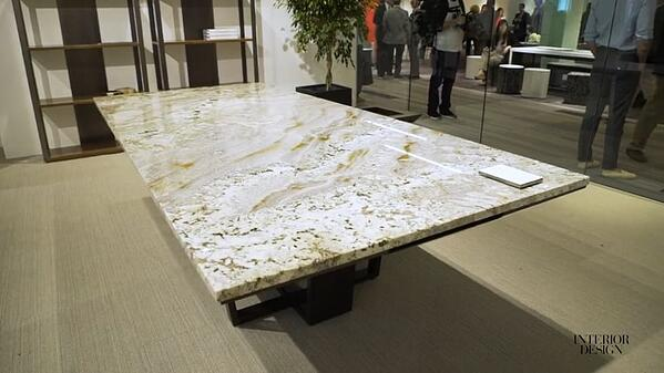 Natural stones such as granite and quartz are being brought into the office for a more earthy and natural atmosphere