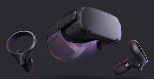 The Oculus Quest VR headset