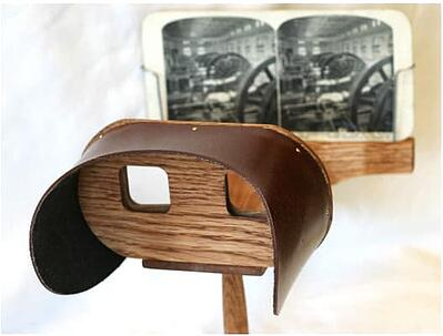 The first step in VR evolution was a headset was the stereoscopic viewer that was based off research from Charles Wheatstone in 1838.